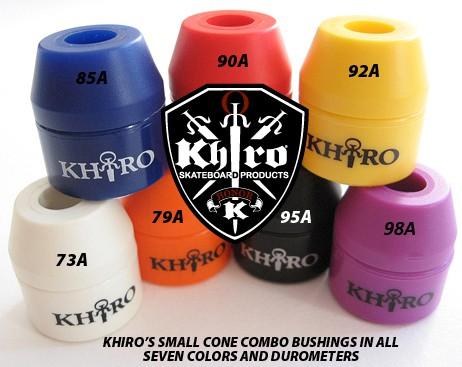 Набор бушингов KHIRO SMALL CONE COMBO KIT (комп. 28 шт + шайбы + Pivot Cap)