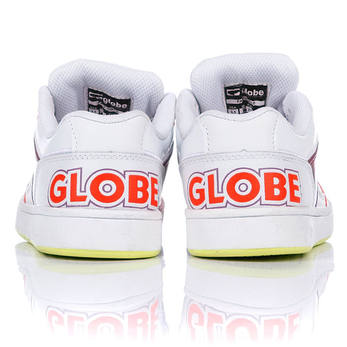 Кеды GLOBE FATE, White/Infrared/Festival