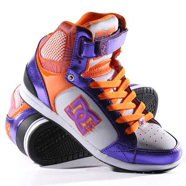 Кеды DC AVERY HIGH, Black/Purple/Orange
