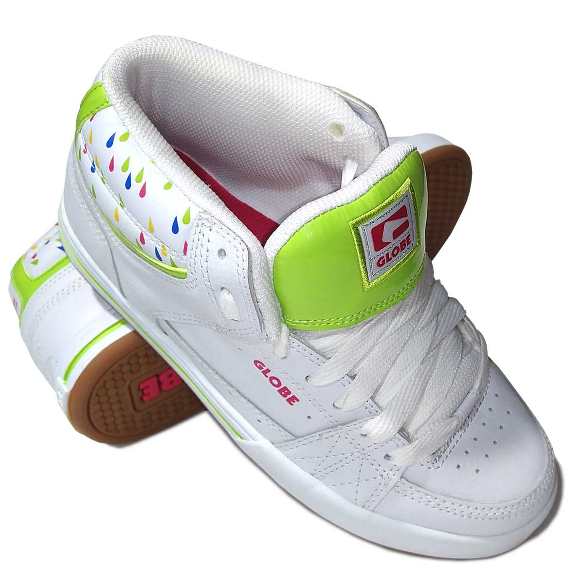 Кеды GLOBE MACE HIGHT GIRLS, White/Lime